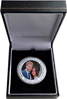 1000 Flags Prince Harry and Meghan Markle Royal Wedding Commemorative Coin Medal - Boxed- Boxed