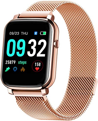 F1 Touch Screen Unisex Smartwatch with Heart Rate Blood Pressure Monitoring