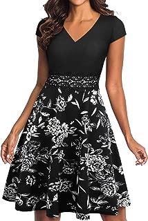 Best black white floral print dress Reviews