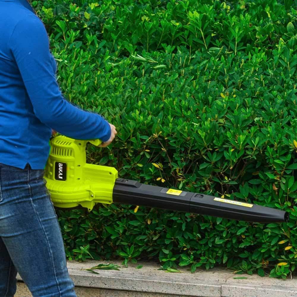 BAKAJI - Aspirador eléctrico de jardín 3 en 1, triturador y soplador, soplador, Hojas de 3000 W, con depósito de Recogida de 40 litros y Correa para el Mantenimiento de Espacios Exteriores: Amazon.es: Jardín