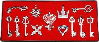 キングダムハーツ ネックレス キーホルダー 13点ゼット I3C キングダムハーツ 周辺 小物 キングダム ハーツ コスプレ用 記念品 萌グッズ シルバー
