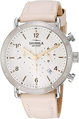 Soft Blush Leather Strap/Soft White Dial