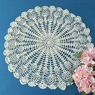 FidgetGear Beige Vintage Hand Crochet Lace Doily Round Table Topper 20