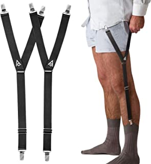 Shirt Stays Adjustable Straps - Elastic Shirt Suspenders Holder Shirt Tucker Non-slip Duckbill Clamps For Men
