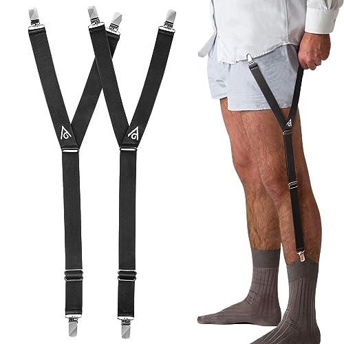 Fashion Elastic Adjustable Legs Belts Suspenders For Men Shirt Holders Suspenders Mens Clothes Accessories Complete Range Of Articles Apparel Accessories Men's Accessories