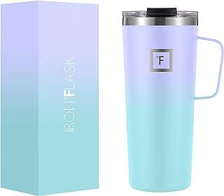 IRON °FLASK Grip Coffee Mug - 24 Oz, Leak Proof, Vacuum Insulated Stainless Steel Bottle, Modern...