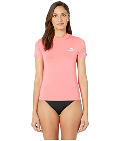 Billabong Core Loose Fit Short Sleeve (Neon Coral) Women