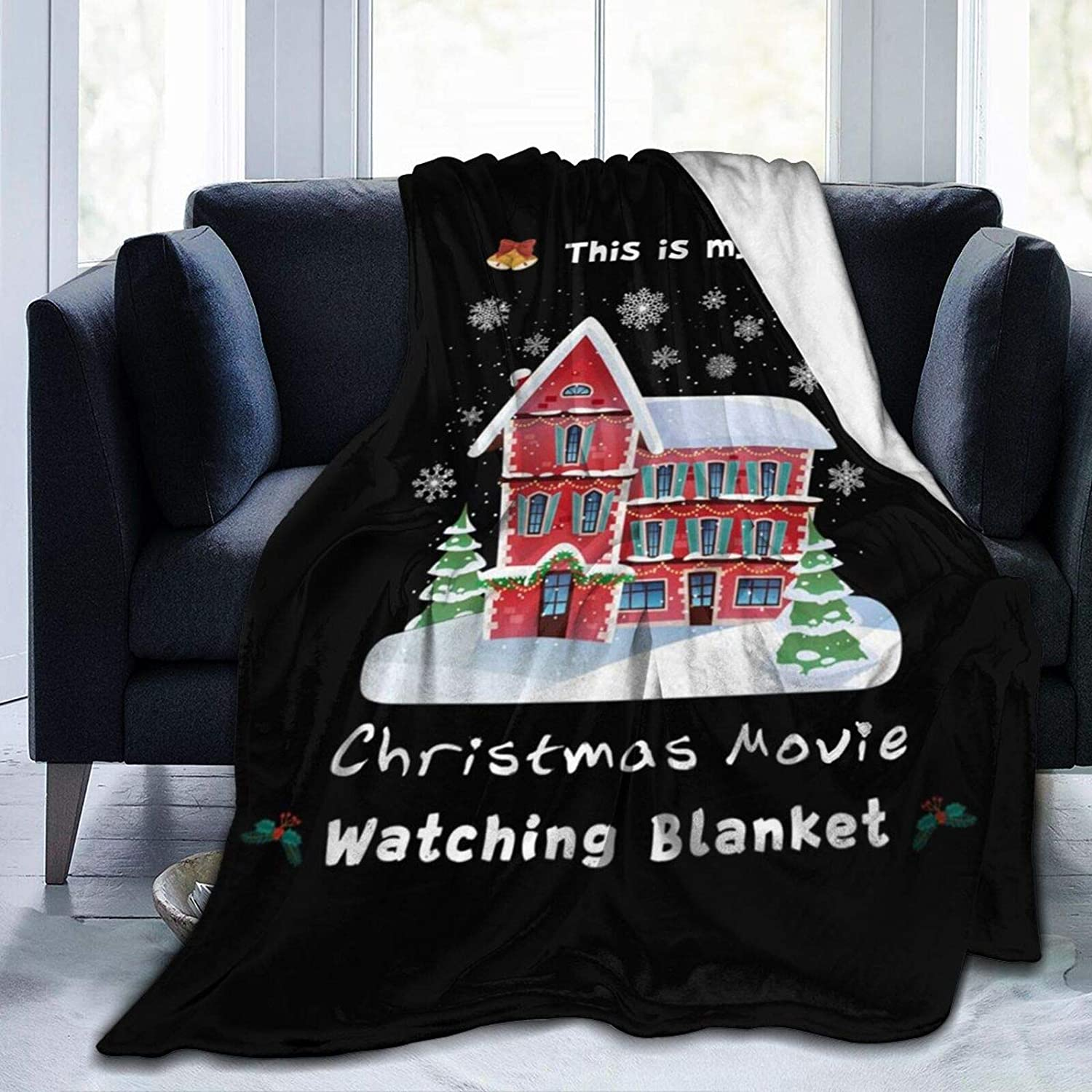 Xmas Special sale item Fleece Throw Blanket This is Watching Christmas 1 year warranty My Movie Bl