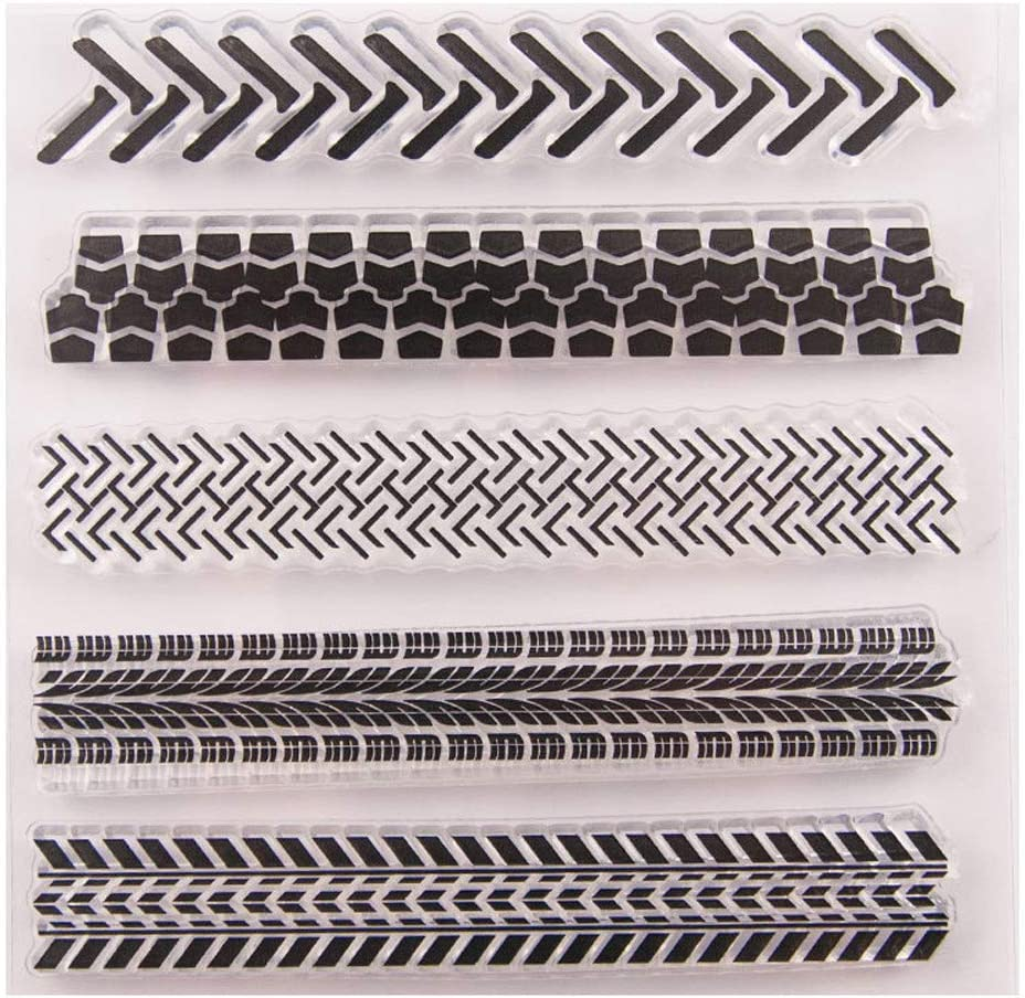 3.9 by 5.9 Inches Heart Arrow Love Letters Clear Rubber Stamps for Card Making Scrapbooking Valentines Day Craft Stamps