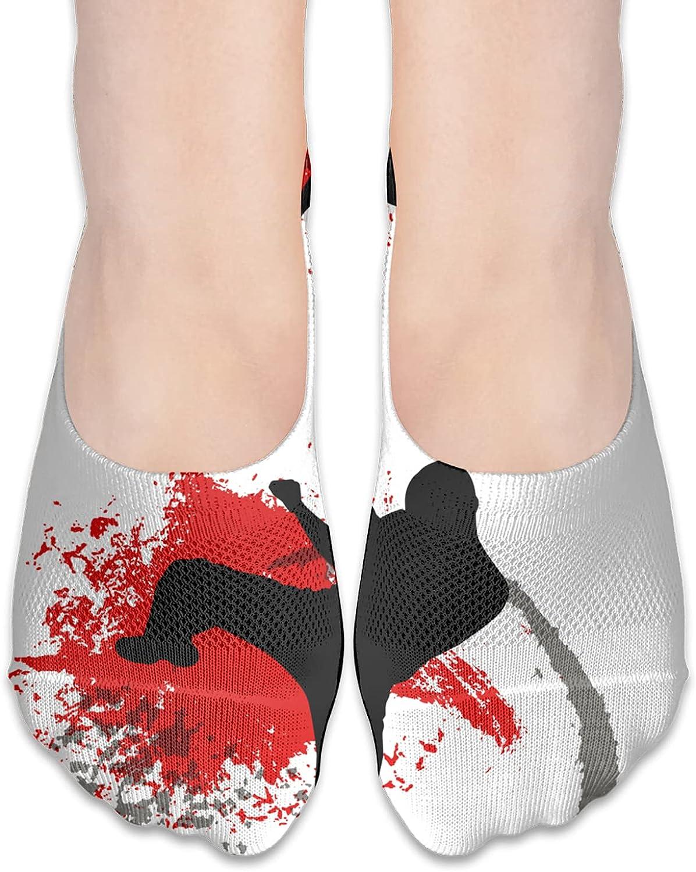 No Show Socks Women Men For Karate Japan Kung Fu Flats Cotton Ultra Low Cut Liner Socks Non Slip