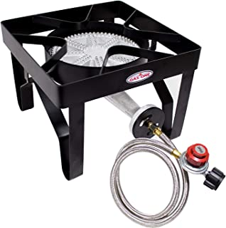 GasOne 200, 000 BTU Square Heavy- Duty Single Burner Outdoor Stove Propane Gas Cooker..