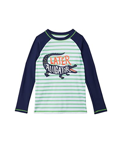Hatley Kids Gator Long Sleeve Rashguard (Toddler/Little Kids/Big Kids) (White) Boy