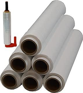 6 Rollen  Abroller Beste-Folie Stretchfolie 23my 500mm - 1,5 Kg verschieden Farben Palettenfolie Handfolie Wickelfolie 6er weiß  Abroller