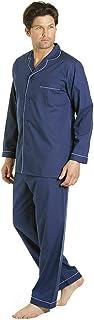 Mens Plain Long Pyjama Set Polycotton 4 Button Lounge Wear Soft Comfortable Poly Cotton Night Shirt Long Sleeve Sleepwear ...