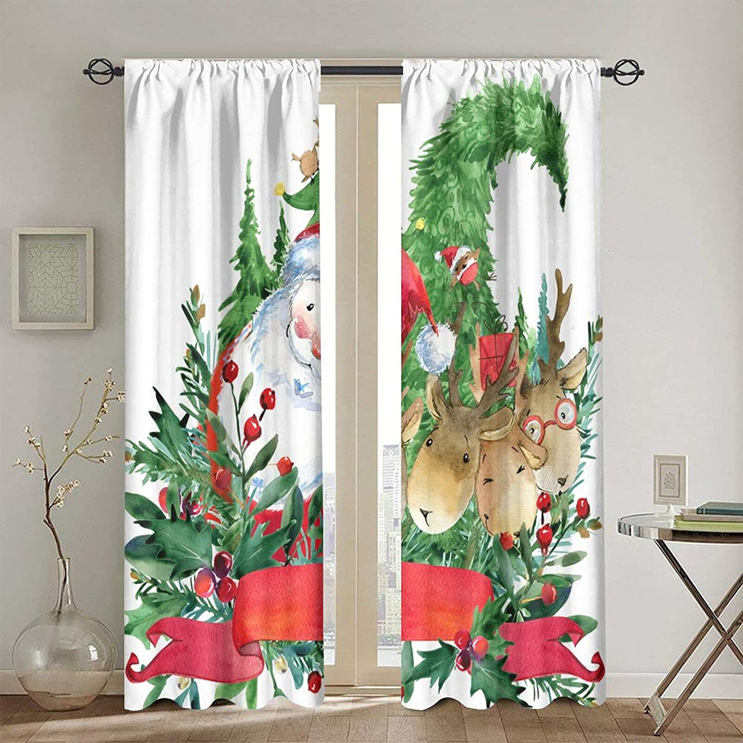 Blackout Curtains for Girls sold Challenge the lowest price of Japan out Boys Santa Reinde Claus Cartoon Cute
