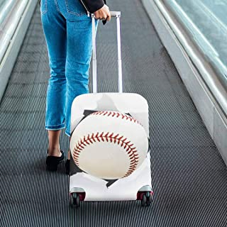 Suitcase Protectors Baseball Bursting Though a Hole Pattern Print on Luggage Covers Fit 18-28 Inch Luggage