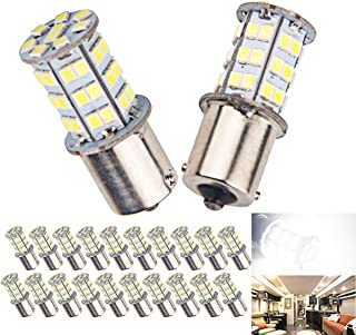20 Pcs Extremely Bright 1156 1141 1003 1073 7506 BA15S LED Replacement Light Bulbs for Tail Backup Reverse Lights RV Indoor Lights 6000K Xenon White(12V DC)