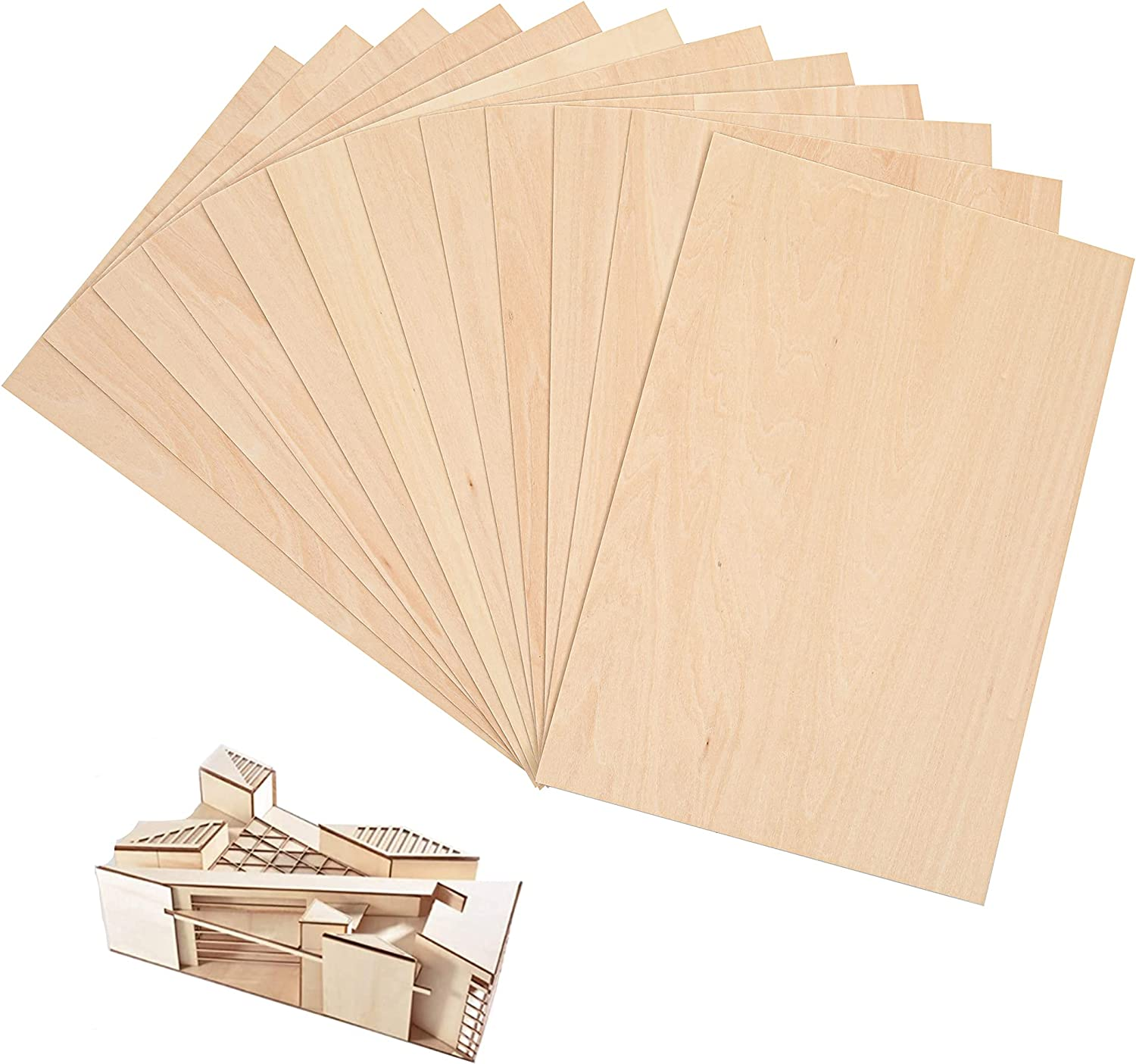 """12-Pack 12""""x8""""x1 Import 16"""" Sheets Unfinished Basswood Ranking TOP3"""