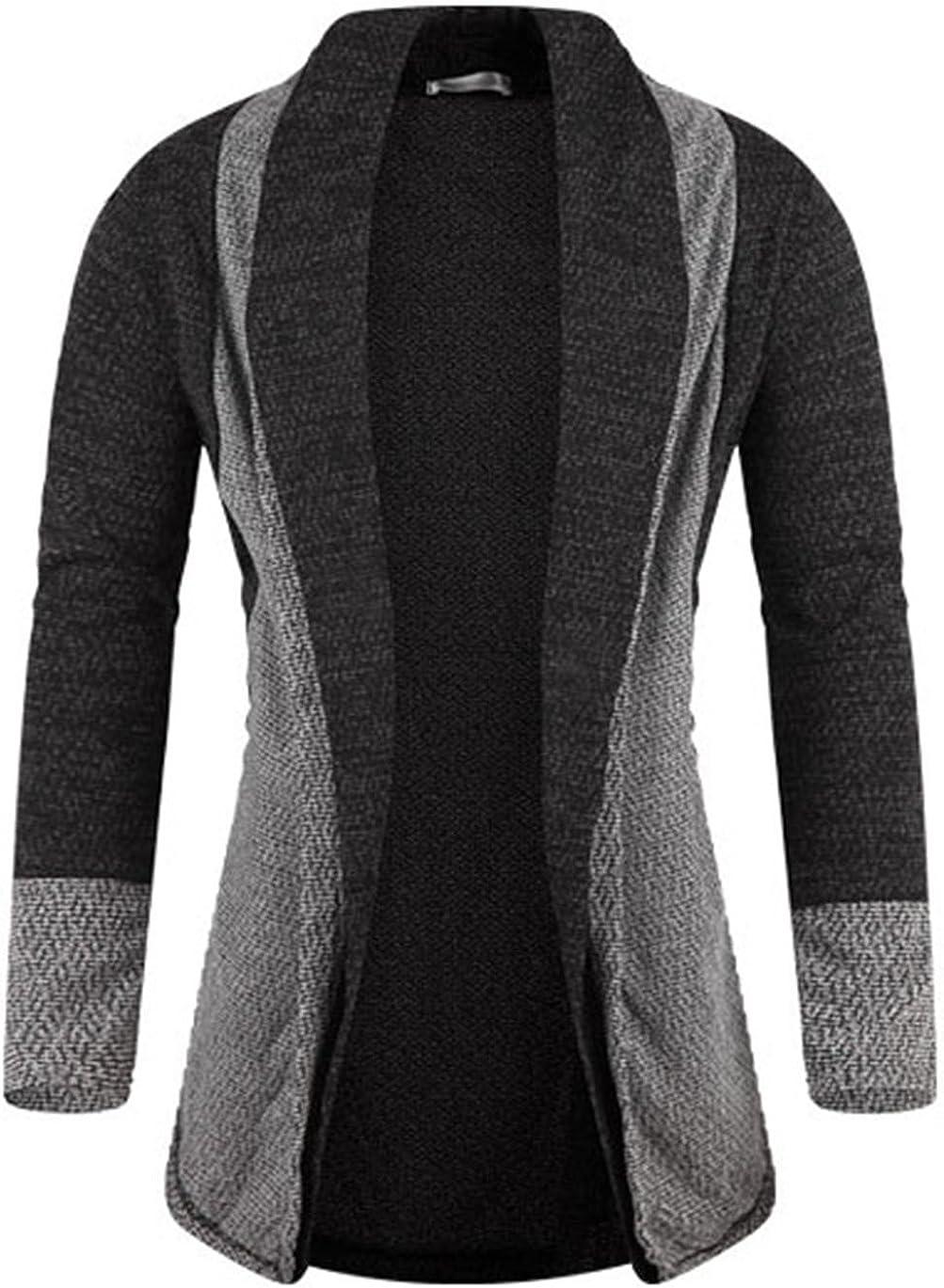 Men's Luxury Coloration Shawl Knit Cardigan Sweater Jumper Top