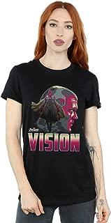 Avengers Women's Infinity War Vision Character Boyfriend Fit T-Shirt