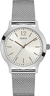Guess Mens watch Analog Display Quartz Movement Steel Bracelet W0921G1
