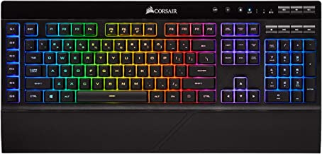 CORSAIR K57 RGB Wireless Gaming Keyboard - <1ms Response time with Slipstream Wireless - Connect with USB dongle, Bluetooth or Wired - Individually Backlit RGB Keys