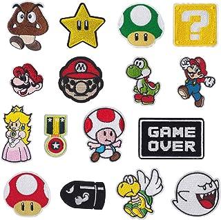 Meetlight - Parches para planchar y coser de los personajes de Super Mario Bros - Kit de parches bordados con diseños de v...