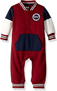 STX Fashion Baby Boys Varsity Fleece Coverall