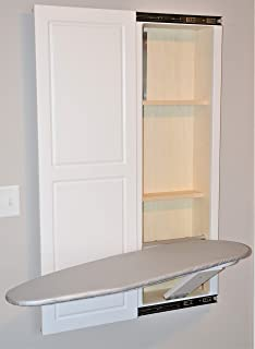 Slide-Away Elite Series White in-Wall Ironing Board