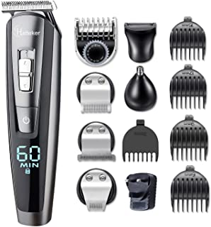 Hatteker Beard Trimmer Hair Clipper Hair Trimmer Clippers for Men Cordless Haircut Kit for Men Kids Adults LED Display USB...
