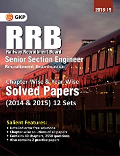 RRB SENIOR SECTION ENGINEER 2018-19 CHAPTER WISE &B YEAR WISE PREVIOUS SOLVED PAPERS 2014 & 15 12 STES 2019