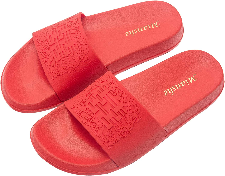 Mianshe Woherrar Woherrar Woherrar and herrar Slide Sandals  online-försäljning