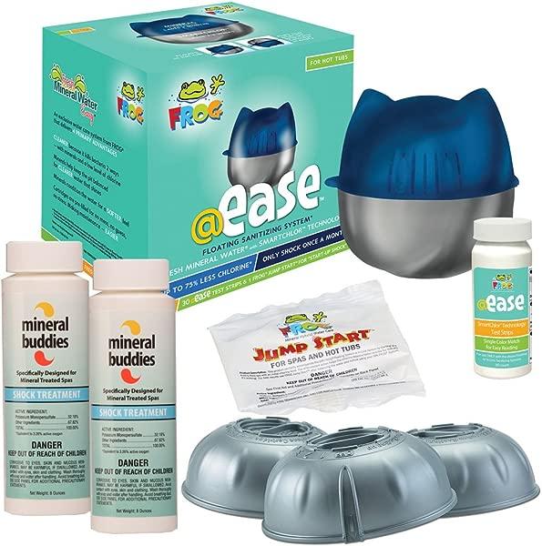 FROG Ease Floating Sanitizing System FROG Ease SmartChlor Cartridge 3pk Plus Free Mineral Buddies Shock Treatment