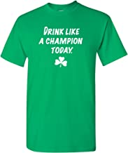 Strange Cargo Men's Drink Like A Champion Today Funny St Patrick's Day Irish T-Shirt