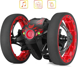 RC Remote Control Jumping Cars - Smartlife 2.4GHz Remote Control Bounce Car Toys with Rechargeable Battery for Boys Girls Birthday Christmas (PEG-81 Black)