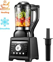 AICOOK Blender for Cooking and Smoothies, Professional Blender Including 60 oz Quality Glass Jar with Heating Element, Hot Soup Maker, 1400W High Speed Blender