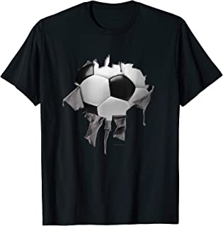 Shredded, Ripped and Torn Soccer - Futbol T-Shirt