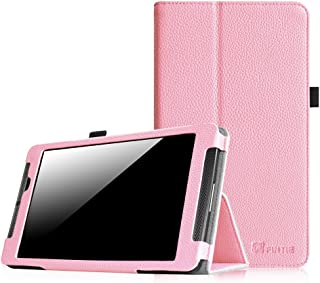 Fintie NVIDIA Shield Tablet K1, NVIDIA Shield Tablet Folio Case, Slim Fit Vegan Leather Cover for 2015 NVIDIA Shield Tablet K1 8.0 Inch Newest Version, 2014 NVIDIA Shield 2 8 Inch Tablet, Pink