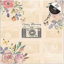Tallon Vintage Cream Happy Memories 6x4 Photo Album Memo Slip in Holds 200 Photos