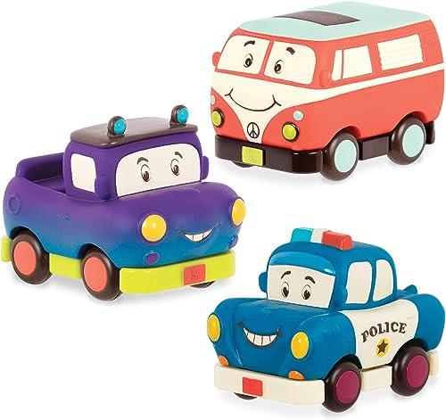 B. Toys – véhicules à Friction – Mini Wheeee-ls ! – Coffrets de véhicules – Jouets pour Enfants de 1 an et Plus