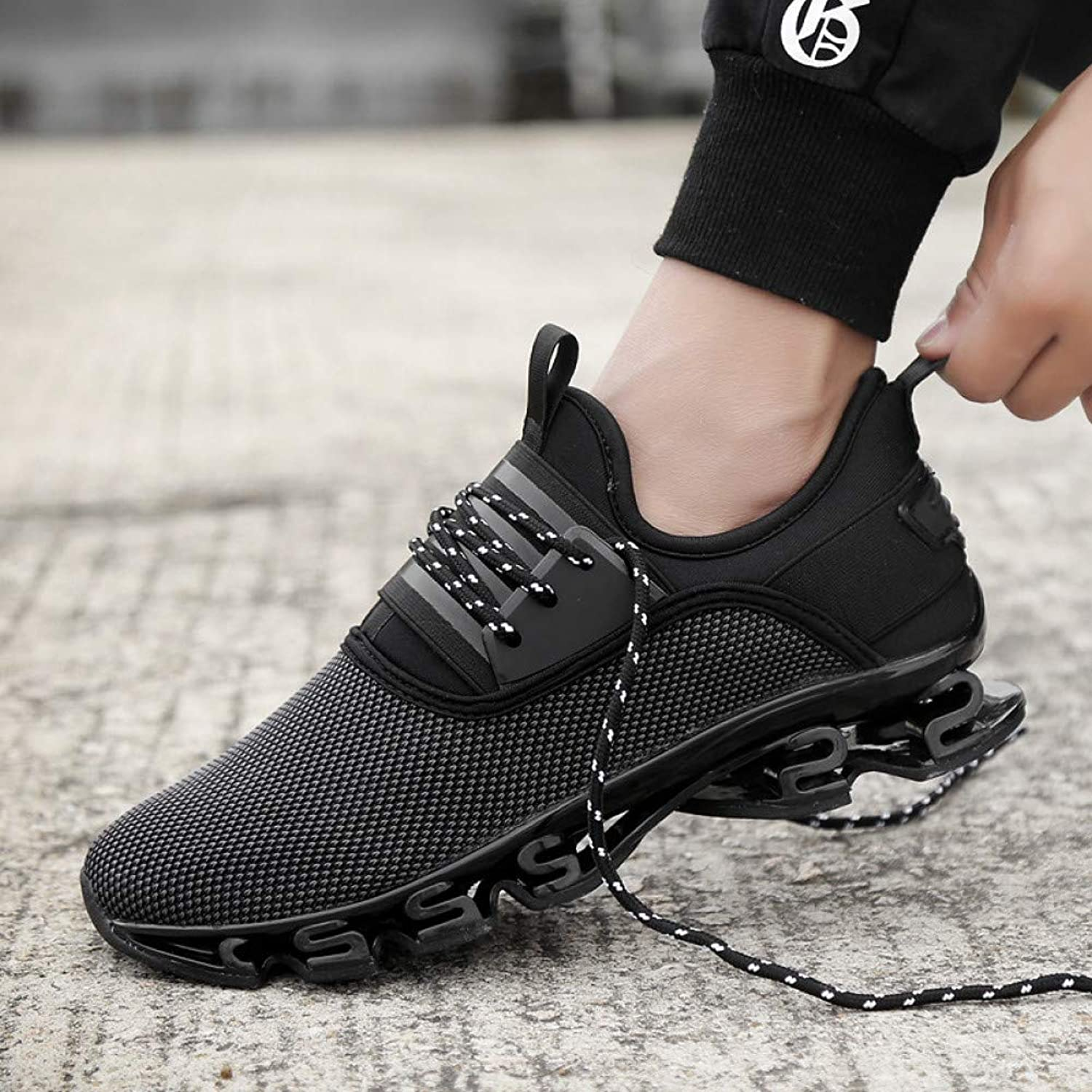 NZXAJKDH New Men Sneaker Breathable Mesh Lace-Up Casual shoes Large Size Wear Resistant Antiskid Male Leisure Movement shoes