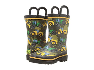 Western Chief Kids Limited Edition Printed Rain Boots (Toddler/Little Kid) (Tractor Tough Taupe) Boys Shoes