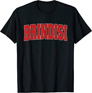 BRINDISI ITALY Varsity Style Vintage Retro Italian Sports T-Shirt