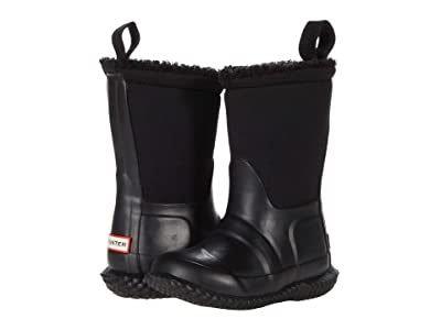 Hunter Kids Original Sherpa Boots (Toddler/Little Kid) (Black) Kid