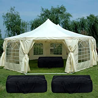 Quictent Party Tent Heavy Duty Wedding Tent Gazebo Outdoor Canopy with 4 arry Bags (Cream) (29'x21')
