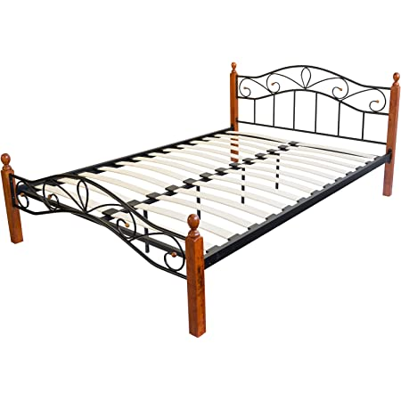 Metallbett Bettgestell Doppelbett Rahmen massiv Lattenrost 180 x 200 Homestyle4u