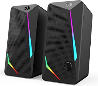 Redragon GS510 Waltz RGB Desktop Speakers, 2.0 Channel PC Computer Stereo Speaker with 4 Colorful LED Backlight Modes, Enh...