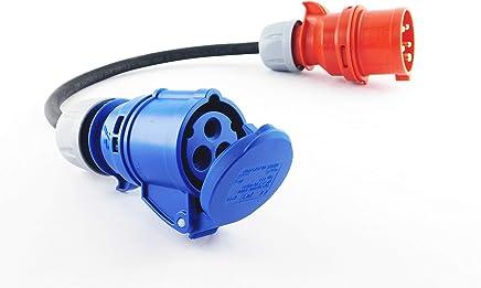 CEE Adapter Starkstrom 16A Stecker auf 230V Vollgummikupplung H07 RN-F 3x1,5 mm²