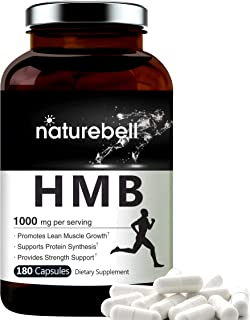 Maximum Strength HMB Capsules 1000mg Per Serving, 180 Counts, Supports Muscle Recovery, HMB Supplements for Men and Women,...