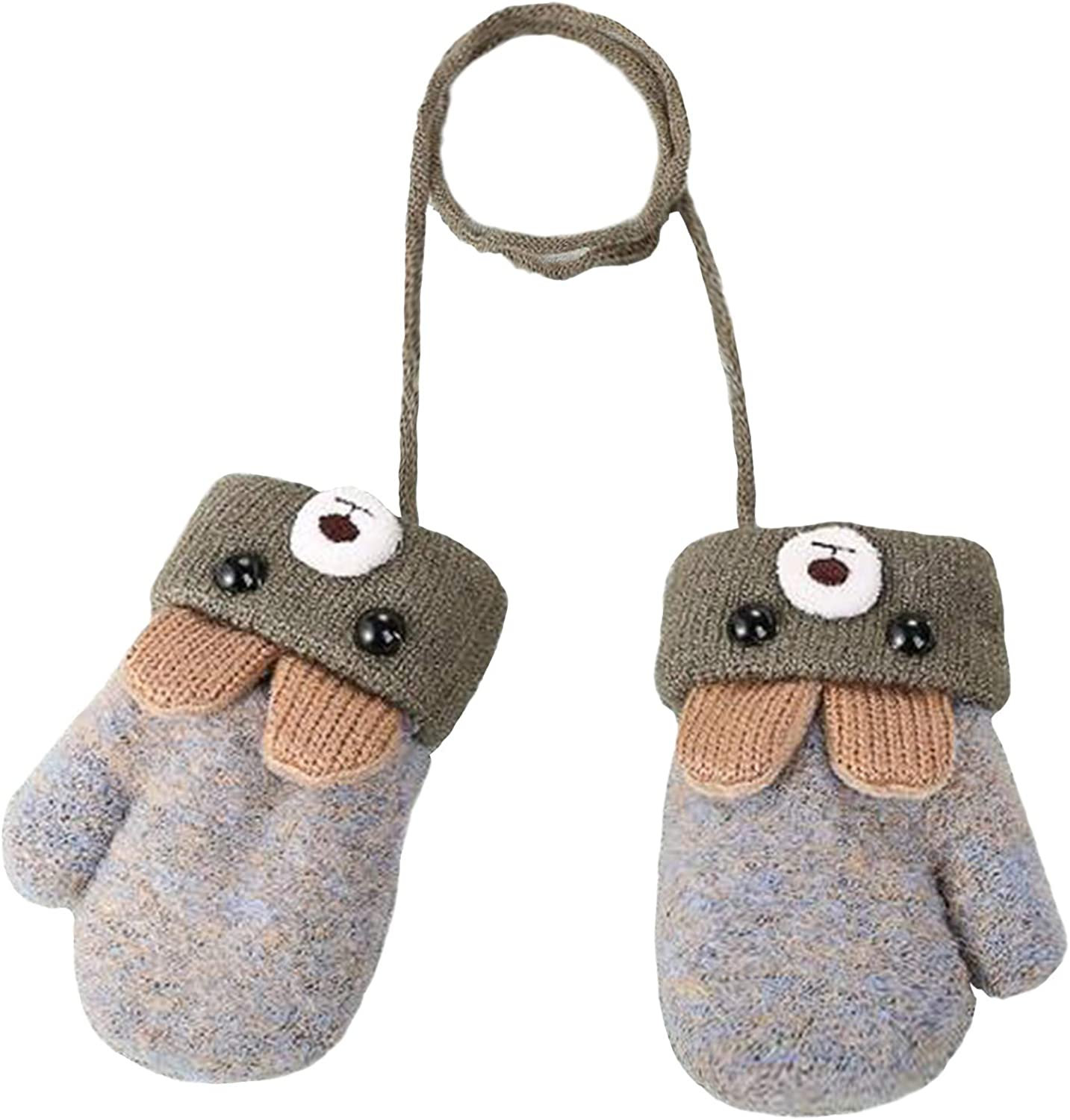 Toddlers Winter Knitted Warm Cartoon Gloves Birthday Xmas Gifts for 0-3 Y Xmas Gift